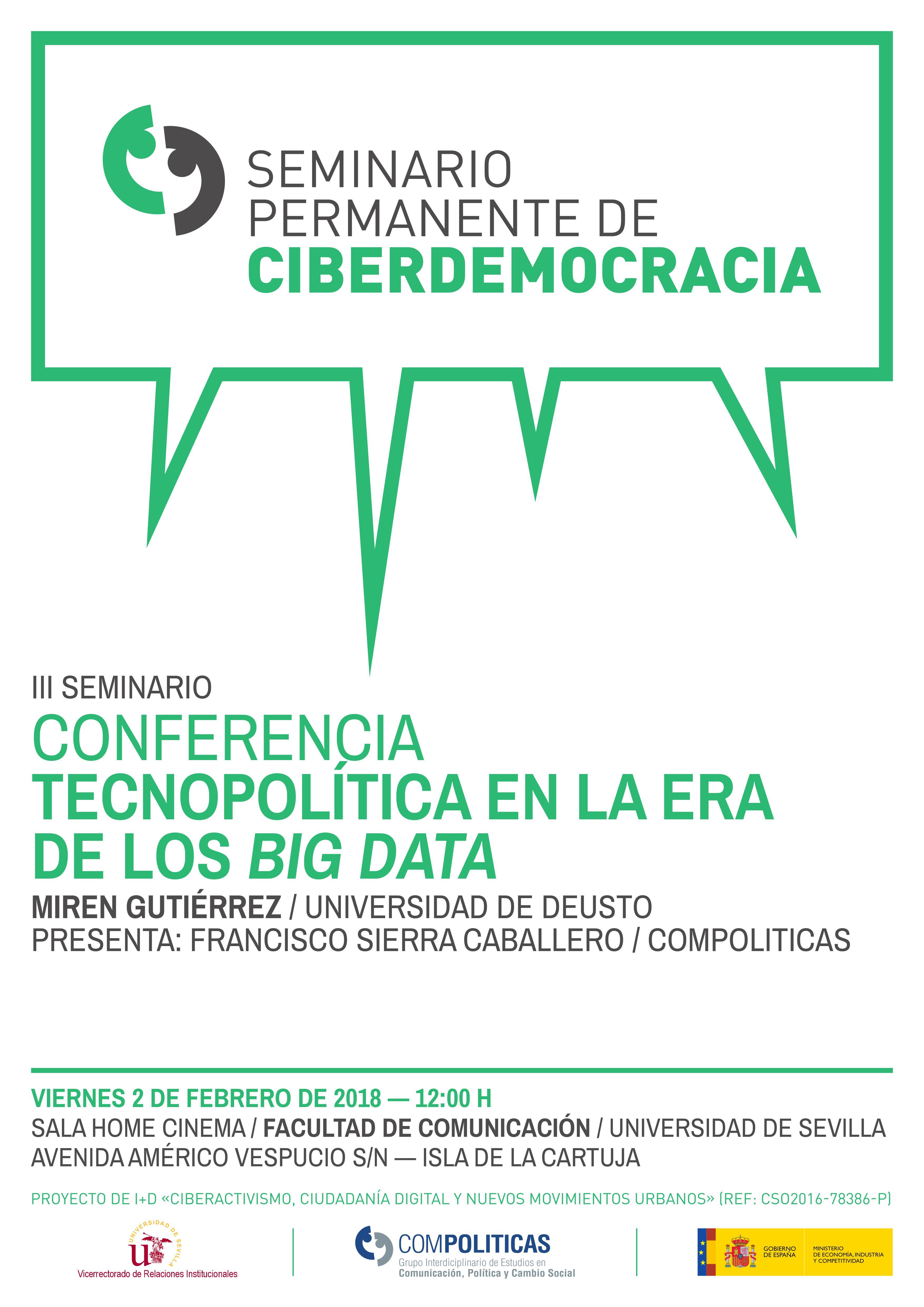 Seminario Ciberdemocracia. Tecnopolítica en la era de los big data